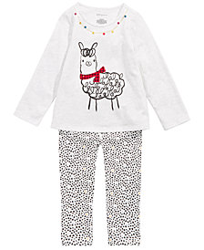 First Impressions Toddler Girls FaLaLa Llama Top & Leggings Separates, Created for Macy's