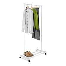 Honey Can Do Rolling Garment Rack, White