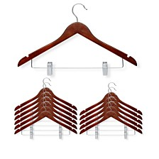Honey Can Do 12-Pc. Basic Suit Hanger with Clips