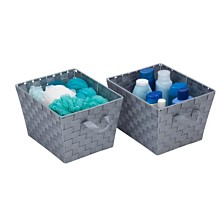 Honey Can Do Set of 2 Woven Baskets, Gray