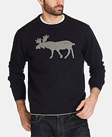 Weatherproof Vintage Men's Moose Sweater