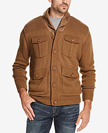Weatherproof Vintage Men's 4-Pocket Fleece-Lined Sweater