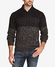 Weatherproof Vintage Men's Ombré Shawl-Neck Sweater