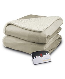 Electric Micro Mink/Sherpa Twin Blanket