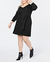 fa726d5e646 NY Collection Plus Size Fit   Flare Sweater Dress