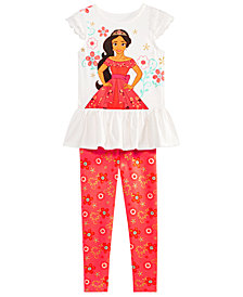 Disney Little Girls 2-Pc. Elena Top & Leggings Set