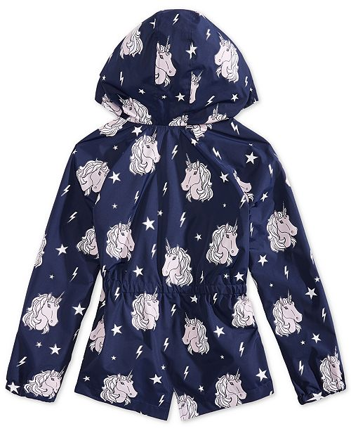 9f7bbf718 Epic Threads Big Girls Color-Changing Unicorn-Print Rain Jacket, Created  for Macy's ...