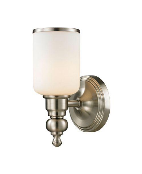 ELK Lighting Bristol Collection 1 Light Bath in Brushed Nickel