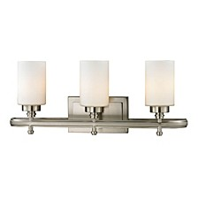 Dawson Collection 3 Light Bath in Brushed Nickel