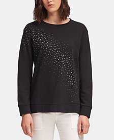 DKNY Studded Sweatshirt, Created for Macy's