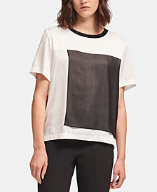 DKNY Colorblocked Crewneck Top, Created for Macy's