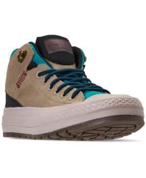 Men'S Chuck Taylor All Star Street Boot Casual Sneakers From Finish Line in Khaki/Black/Rapid Teal