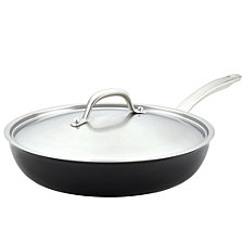 "Circulon Ultimum Forged Aluminum Nonstick Covered 12"" Deep Skillet/Fry Pan"