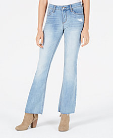 STS Blue Distressed Raw-Hem Flare Jeans