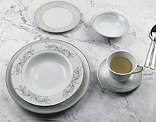 Lorren Home Trends Olympia Mix and Match 57-PC Dinnerware Set, Service for 8