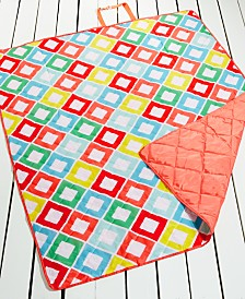 "CLOSEOUT! Martha Stewart Collection Carnival Diamond 60"" x 72"" Beach Blanket, Created for Macy's"