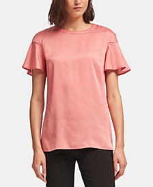 DKNY Flutter-Sleeve Top, Created for Macy's