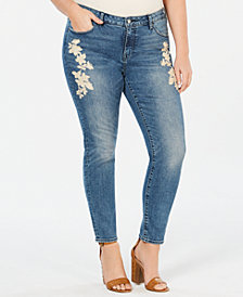 Lucky Brand Plus Size Curvy-Fit Embroidered Lolita Jeans
