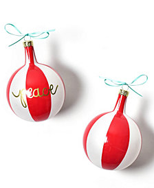 Coton Colors Christmas Spirits Peace Vintage Glass Ornament