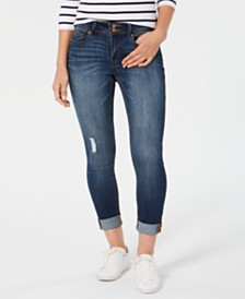 Indigo Rein Juniors' Ripped Rolled Skinny Jeans