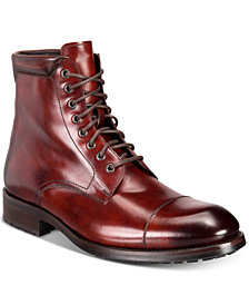 Massimo Emporio Men's Cap-Toe Boots, Created for Macy's