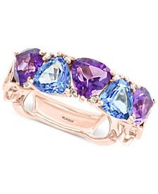EFFY® Multi-Gemstone (4-1/5 ct. t.w.) & Diamond Accent Ring in 14k Rose Gold