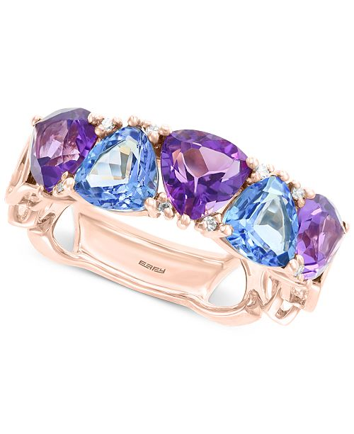 EFFY Collection EFFY® Multi-Gemstone (4-1/5 ct. t.w.) & Diamond Accent Ring in 14k Rose Gold