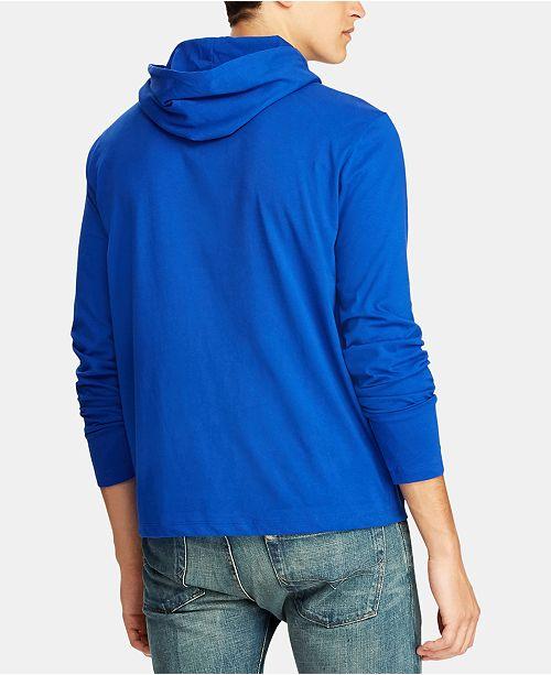 Polo Ralph Lauren Mens Bear Hooded Long Sleeve T Shirt