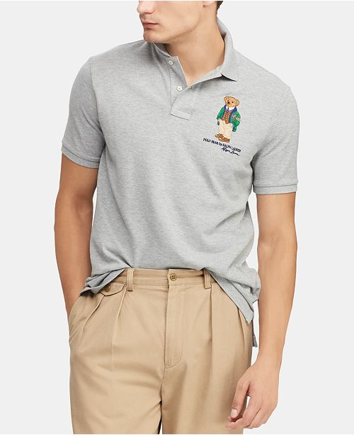 312f31b0c Polo Ralph Lauren Men's Classic Fit Polo Bear Polo, Created for Macy's