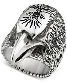 Men's Eagle Head Ring in Sterling Silver