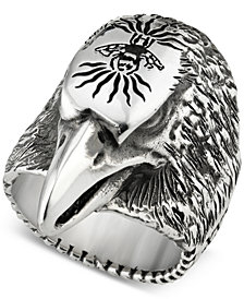 Gucci Men's Eagle Head Ring in Sterling Silver