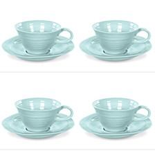 Sophie Conran Celadon Teacup & Saucer Set of 4
