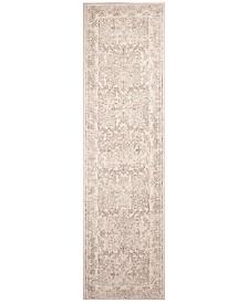"Bob Mackie Home Vintage Damascus 1312 Ivory 2'2"" x 7'10"" Runner Area Rug"