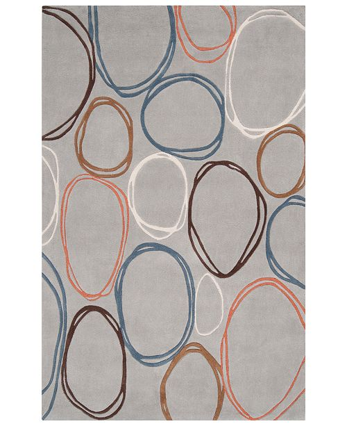 "Surya CLOSEOUT!  Cosmopolitan COS-8992 Light Gray 3'6"" x 5'6"" Area Rug"