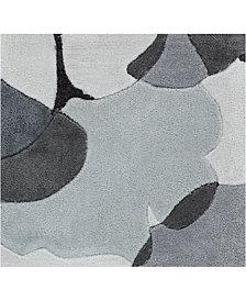 """Surya Cosmopolitan COS-9172 Medium Gray 18"""" Square Swatch"""