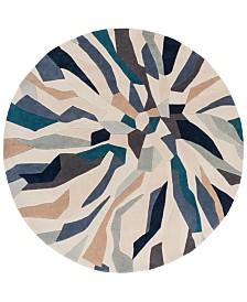 Surya Cosmopolitan COS-9278 Bright Blue 8' Round Area Rug