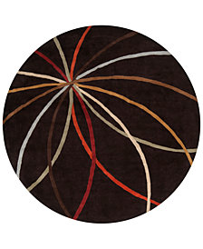 Surya Forum FM-7141 Dark Brown 4' Round Area Rug