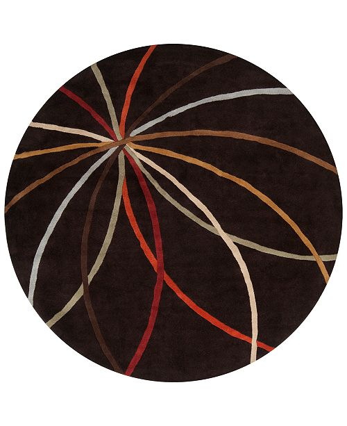 Surya Forum FM-7141 Dark Brown 8' Round Area Rug