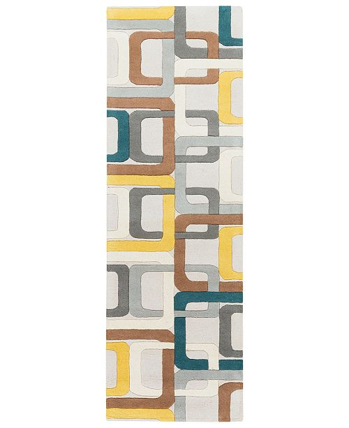 "Surya Forum FM-7159 Dark Green 2'6"" x 8' Runner Area Rug"