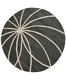 Forum FM-7173 Charcoal 4' Round Area Rug
