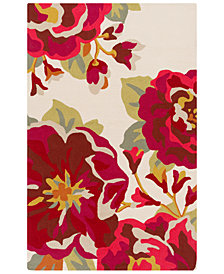 Surya Rain RAI-1230 Dark Red 2' x 3' Area Rug
