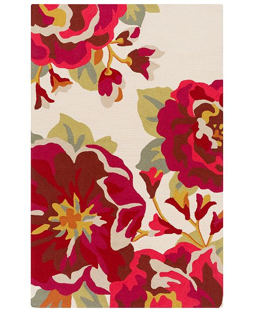Surya Rain RAI-1230 Dark Red 8' x 10' Area Rug, Indoor/Outdoor