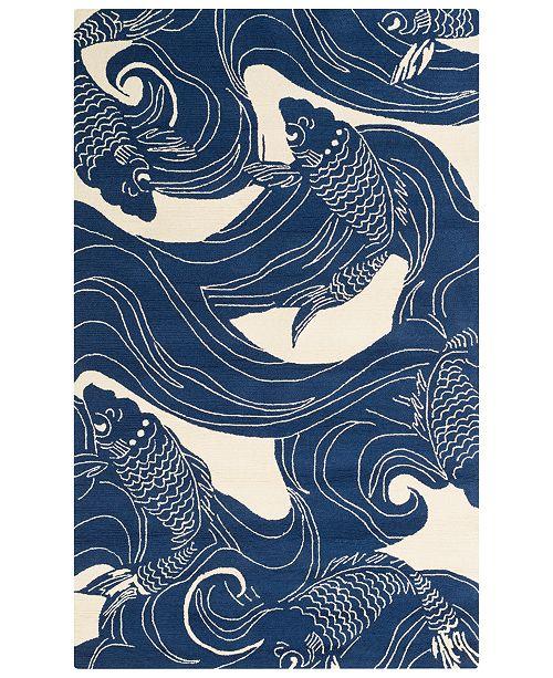 Surya Rain RAI-1238 Dark Blue 2' x 3' Area Rug, Indoor/Outdoor