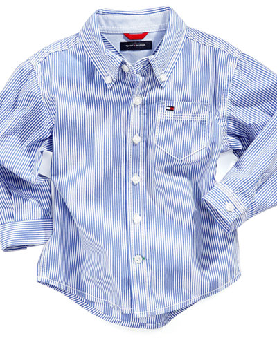 Tommy hilfiger baby shirt baby boys long sleeve stripe for Tommy hilfiger fitzgerald striped shirt