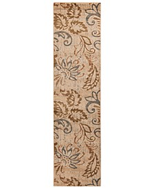 "CLOSEOUT!  Riley RLY-5023 Pear 3' x 7'2"" Runner Area Rug"