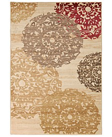 "Riley RLY-5051 Butter 4' x 5'5"" Area Rug"