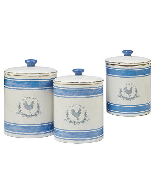 Certified International Urban Farmhouse 3-Pc. Canister Set