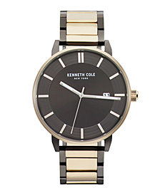 Kenneth Cole New York Men's Two-Tone Stainless Steel Bracelet Watch 44mm