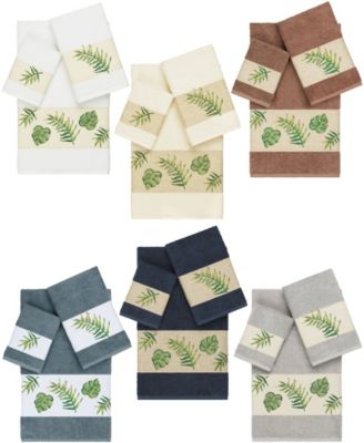 Zoe 4-Pc. Embroidered Turkish Cotton Bath Towel Set