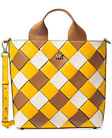 MICHAEL Michael Kors Mott Woven Leather Market Tote